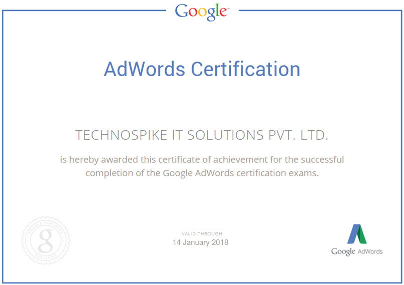Technospike AdWords Certification
